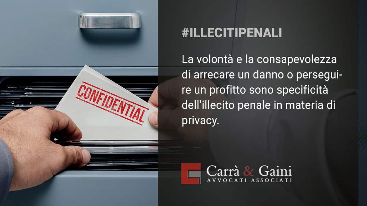 violazioni privacy e sanzioni penali