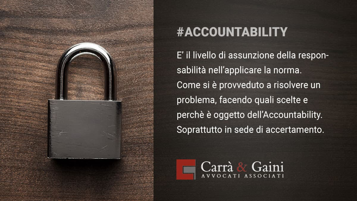 accountability, che cos'è veramente e quanto pesa durante gli accertamenti in punto privacy